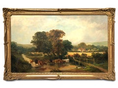 Country Landscape by J E Meadows (1828-1883)
