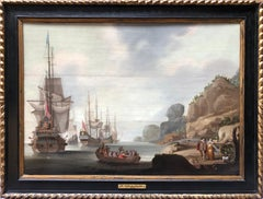 Oil Painting,Circle of Adriaen Van Deist, Marine Scene  Circa 1680