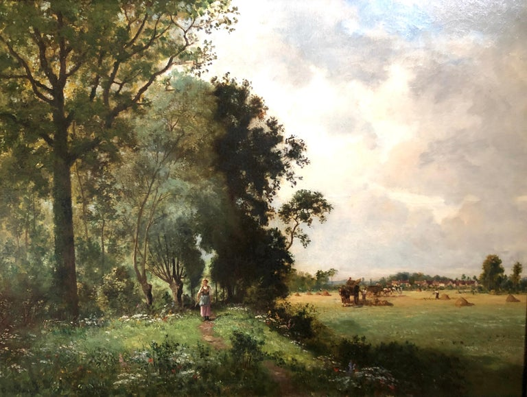 Oil Painting, Landscape by Ernest Guillemer ( French 1839-1913) For Sale 1
