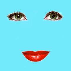 """Liz"" (Robin Egg Blue) Elizabeth Taylor Pop Art Fashion Portrait Photograph"