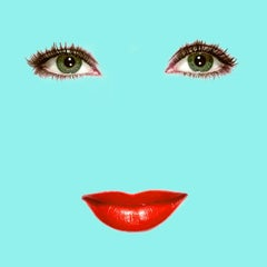 """Liz"" (Tiffany Blue) Elizabeth Taylor Pop Art Fashion Portrait Photograph"