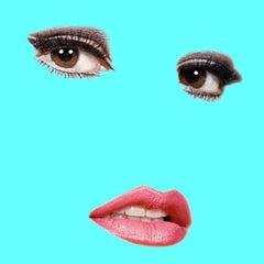 """Raquel"" (Robin Egg Blue) Raquel Welch Pop Art Fashion Portrait Photograph"
