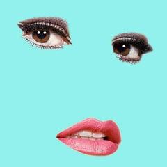 """""""Raquel"""" (Tiffany Blue) Raquel Welch Pop Art Fashion Portrait Photograph"""