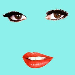 """Brigitte"" (Tiffany Blue) Brigitte Bardot Pop Art Fashion Portrait Photograph"