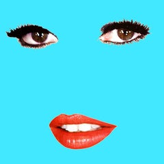 """Brigitte"" (Robin Egg Blue) Brigitte Bardot Pop Art Fashion Portrait Photograph"