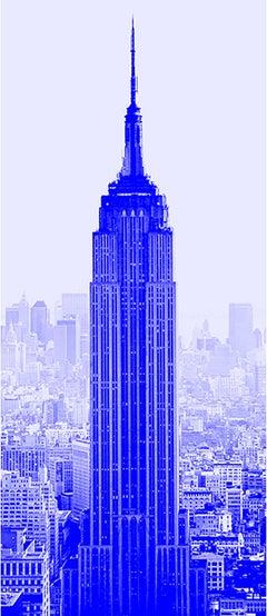"""Blue Empire"" Empire State Building Photograph Art Deco"