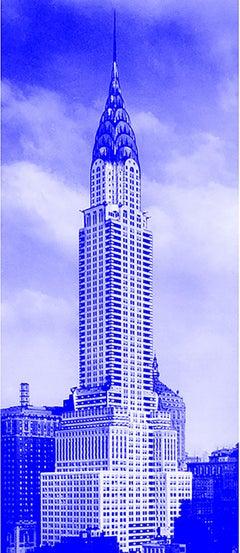 """""""Blue Chrysler"""" Building Photograph Art Deco"""