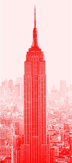 """Red Empire"" Empire State Building Photograph Art Deco"