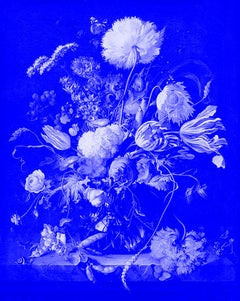 """Vase of Flowers Blue"" After Jan Davidsz. de Heem Tulips photograph"