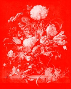 """Vase of Flowers Red"" After Jan Davidsz. de Heem Tulips photograph"