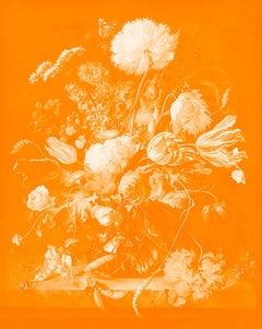 """""""Vase of Flowers Orange"""" After Jan Davidsz. de Heem Tulips photograph"""