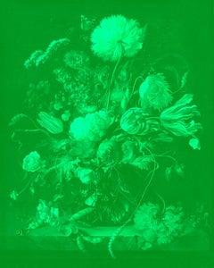 """Vase of Flowers Green"" After Jan Davidsz. de Heem Tulips photograph"