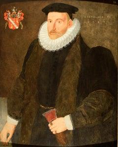 Elizabethan period oil Painting portrait of Richard Waugh