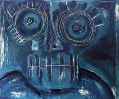 La Mascara Cobalto, Contemporary Art, Abstract Painting, 21st Century