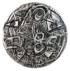 CONTEMPORARY MEXICAN ART, Graphite on Canvas, Black, 2018