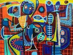 Mercado de Pescado, Contemporary Art, Abstract Painting, 21st Century