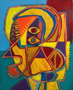 Retrato Contemporary Art, Abstract Painting, 21st Century