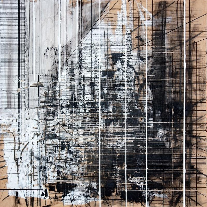 Industrial 9 , Contemporary Art, Abstract Painting, 21st Century