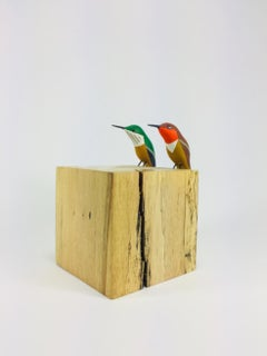 Hummingbirds, Contemporary Art, Sustainable Art, Reclaimed Wood
