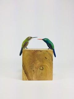 Hummingbirds II, Contemporary Art, Sustainable Art, Reclaimed Wood