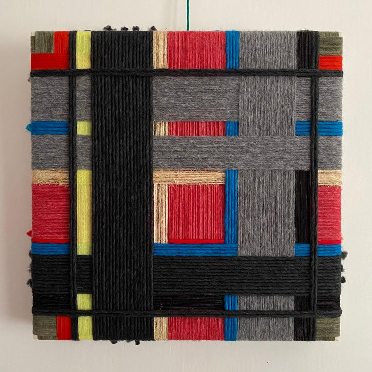 From the Series Layer upon layer - I think you should see at least some blood in your plate when you eat steak, no? 2019 Contemporary Art, Textile Wool, raw Mexican wool, cotton and twine  About the artist I began using threads due to the memory of