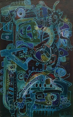 Mystical Dialogues V, Contemporary Art, Abstract Art, 21st Century