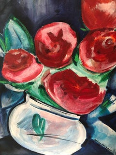 Red Roses, Contemporary Art, Painting, 21st Century