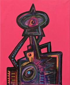 Menina, Contemporary Art, Abstract Painting, 21st Century