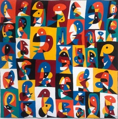 Faces, Contemporary Art, Abstract Painting, 21st Century
