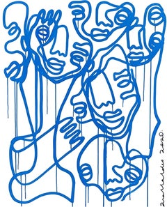 Blue Connections, Contemporary Art, Abstract Painting, 21st Century