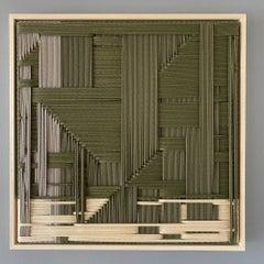 Figurative Army Green, Contemporary Art, Textile Art, 21st Century