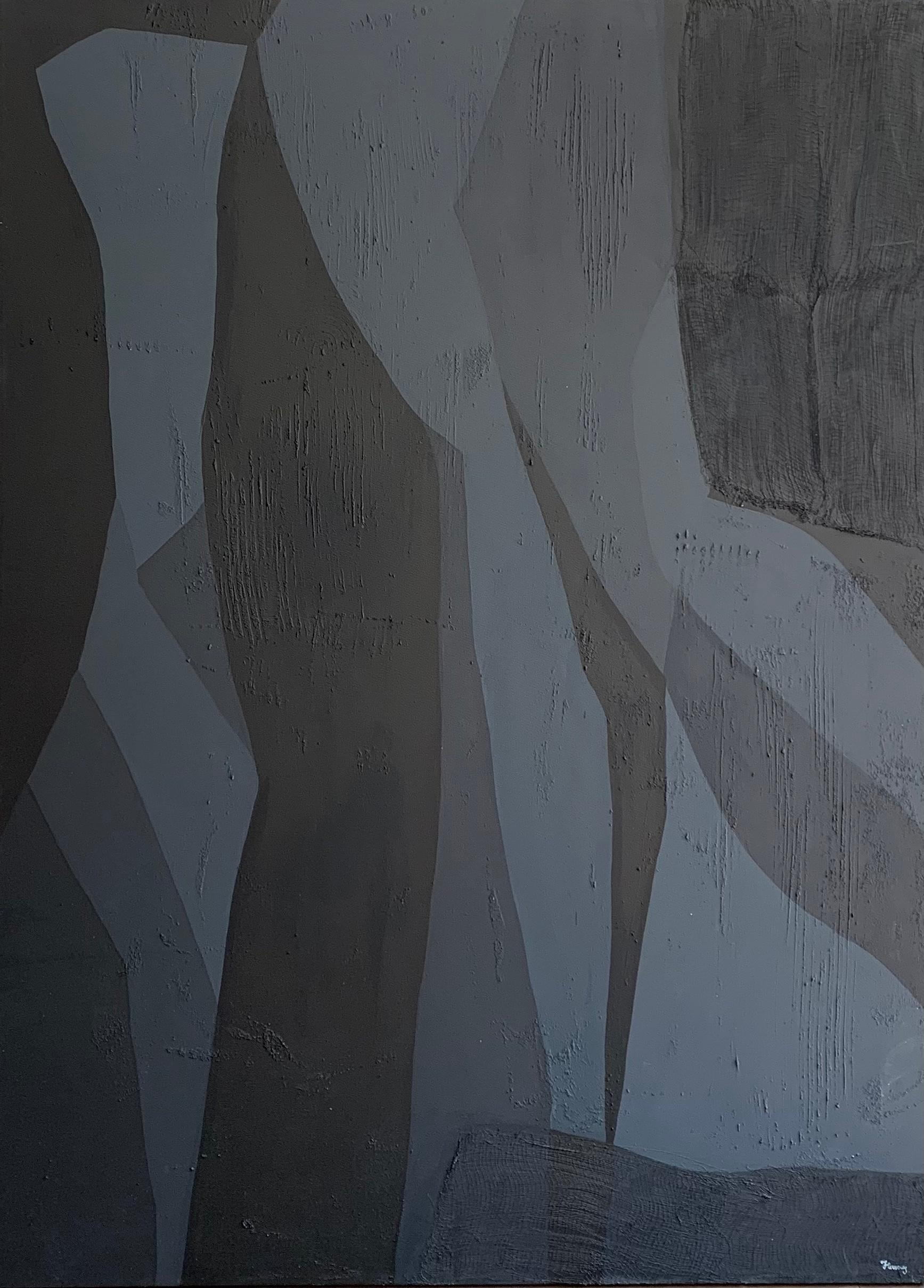 Off Black, Contemporary Art, Abstract Painting, 21st Century