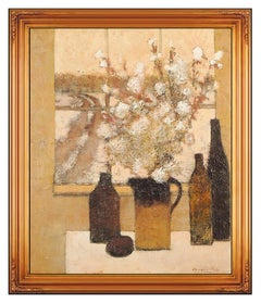Douglas Ricks Original Oil Painting On Canvas Signed Still Life Landscape Art
