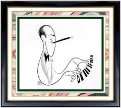 Al Hirschfeld Original Ink Drawing Hand Signed George Gershwin Caricature Art