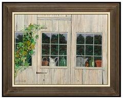 Gladys Smith RARE Original Oil Painting On Canvas Signed Still Life Framed Art