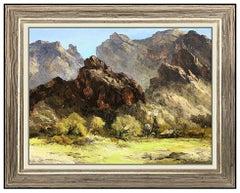 Bill Freeman Original Oil On Canvas Painting Signed Western Landscape Framed Art