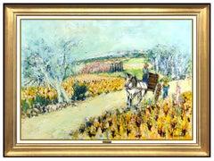 Yolande Ardissone Large Oil Painting On Canvas Original Signed French Landscape