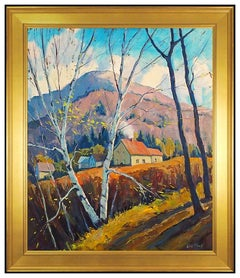 Eric Tobin Large Original Painting Oil On Canvas Signed Vermont Landscape Art