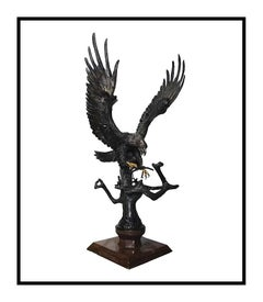 Chester Fields Building For The Future Bald Eagle Large Scale Bronze Sculpture