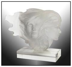 Frederick Hart Original Acrylic Sculpture Herself Signed Female Portrait Artwork