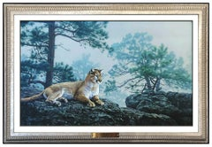 Daniel Dan Smith Original Oil Painting On Board Animal Wildlife Signed Artwork