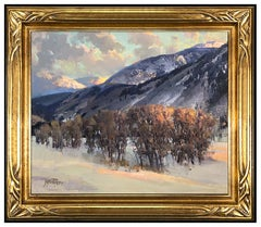 Andrew Peters Original Oil Painting on Canvas Signed Landscape Western Artwork