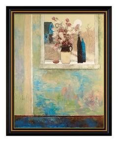 Douglas Ricks Large Original Oil Painting On Canvas Signed Still Life Framed Art