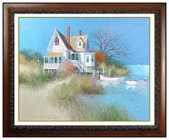 Albert Swayhoover Large Oil Painting On Canvas Original Signed Landscape Artwork