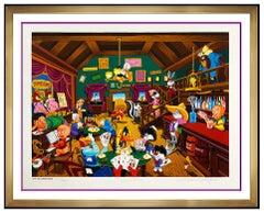 Melanie Taylor Kent Color Serigraph Signed Tune Saloon Warner Brothers Artwork