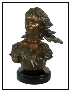 Frederick Hart Poetry Bronze Sculpture Signed Female Torso The Muses Bust Art