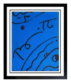 Romero Britto Original Ink Drawing On Board Signed Portrait Modern Pop Artwork