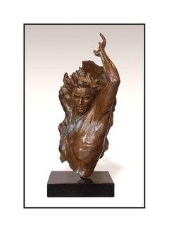 Frederick Hart Large Ex Nihilo 4 Bronze Sculpture Male Full Round Signed Artwork