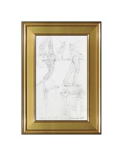 Richard MacDonald Original Drawing Cirque Du Soleil Signed Sculpture Study Art
