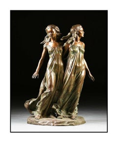 Frederick Hart Daughters of Odessa Sisters Large Bronze Sculpture Signed Artwork